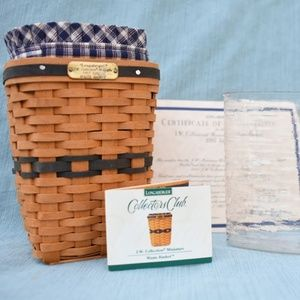 Longaberger JW Miniature Waste Basket